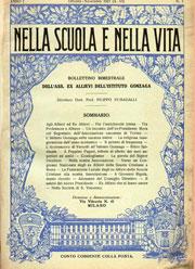 Il primo numero del notiziario della Associazione, uscito nel mese di ottobre 1927