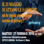 Conferenza informativa: PRIVACY – Proteggere i dati personali oggi