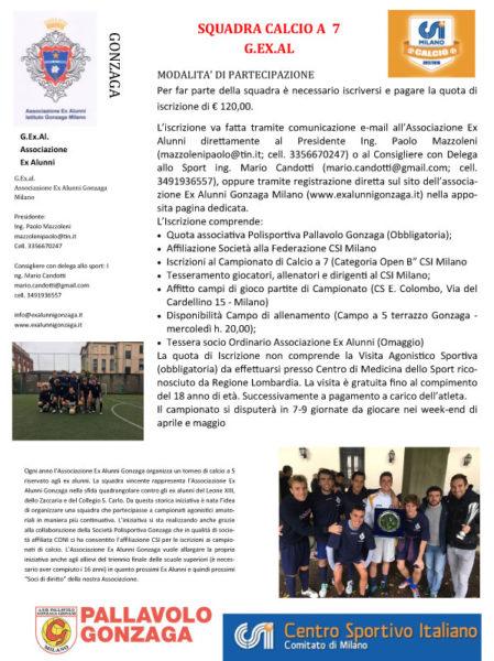 SQUADRA CALCIO A 7 G.EX.AL.