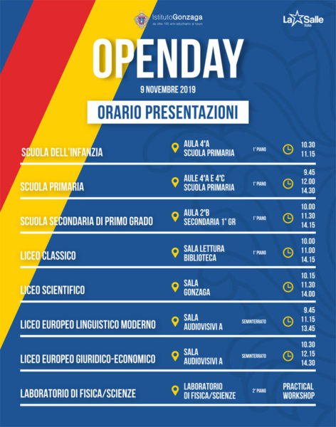 Gonzaga OpenDay 2019