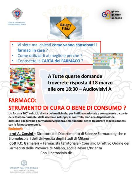 BUSINESS WORKSHOP – FARMACO: STRUMENTO DI CURA O BENE DI CONSUMO?